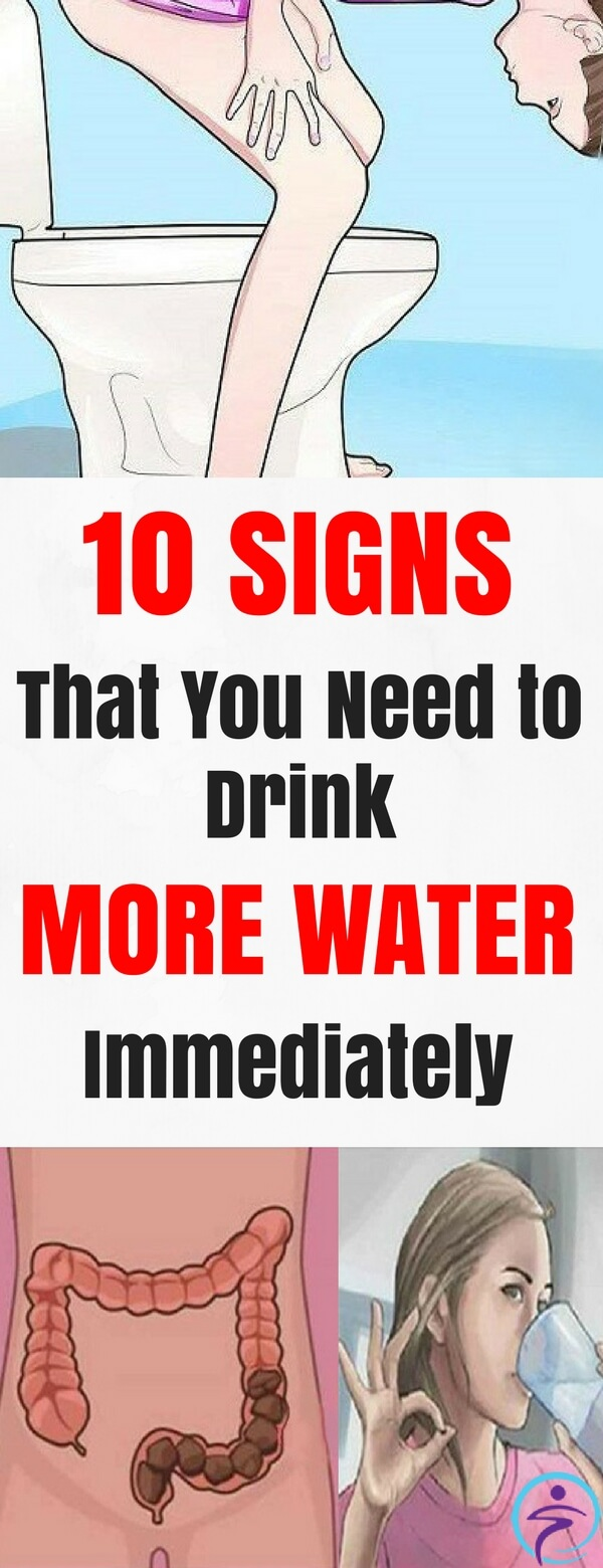 In order to keep our body running smoothly, we need to consume a certain amount of water daily. 10 Signs that show you need to drink more water immediately.