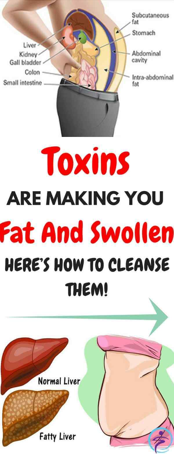 Toxins Stored In Your Fat Cells Are Making You Fat And Swollen. Here's How To Cleanse Them